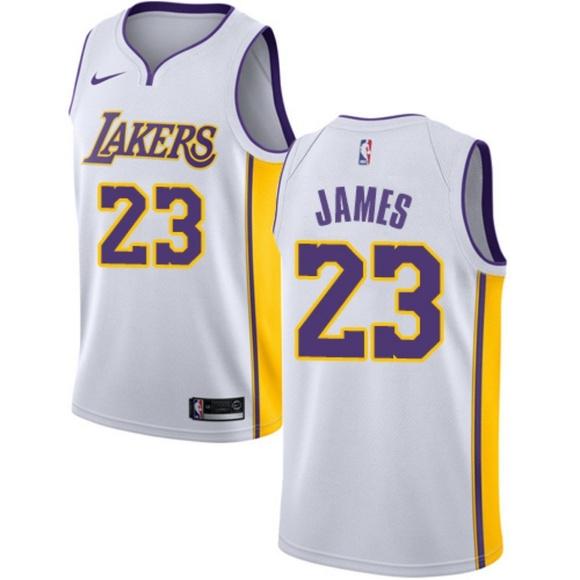 91fc8ee3c524 Nike Shirts | Lakers 23 Lebron James White Nba Swingman As | Poshmark